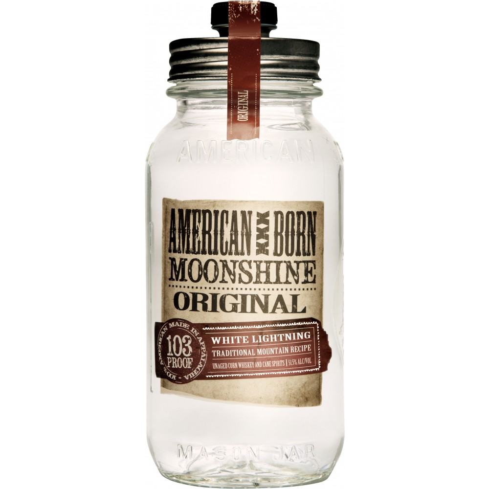 American Born White Lightning Moonshine