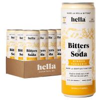 Hella Bitters & Soda Ginger Turmeric 4-Pack