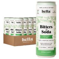 Hella Bitters & Soda Lemon Lime 4-Pack