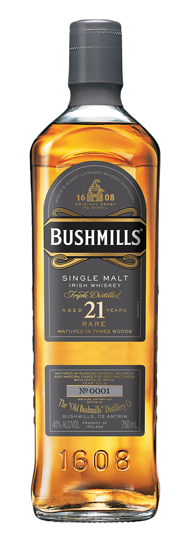 Bushmills 21 Year Old Three Woods Single Malt Irish Whiskey