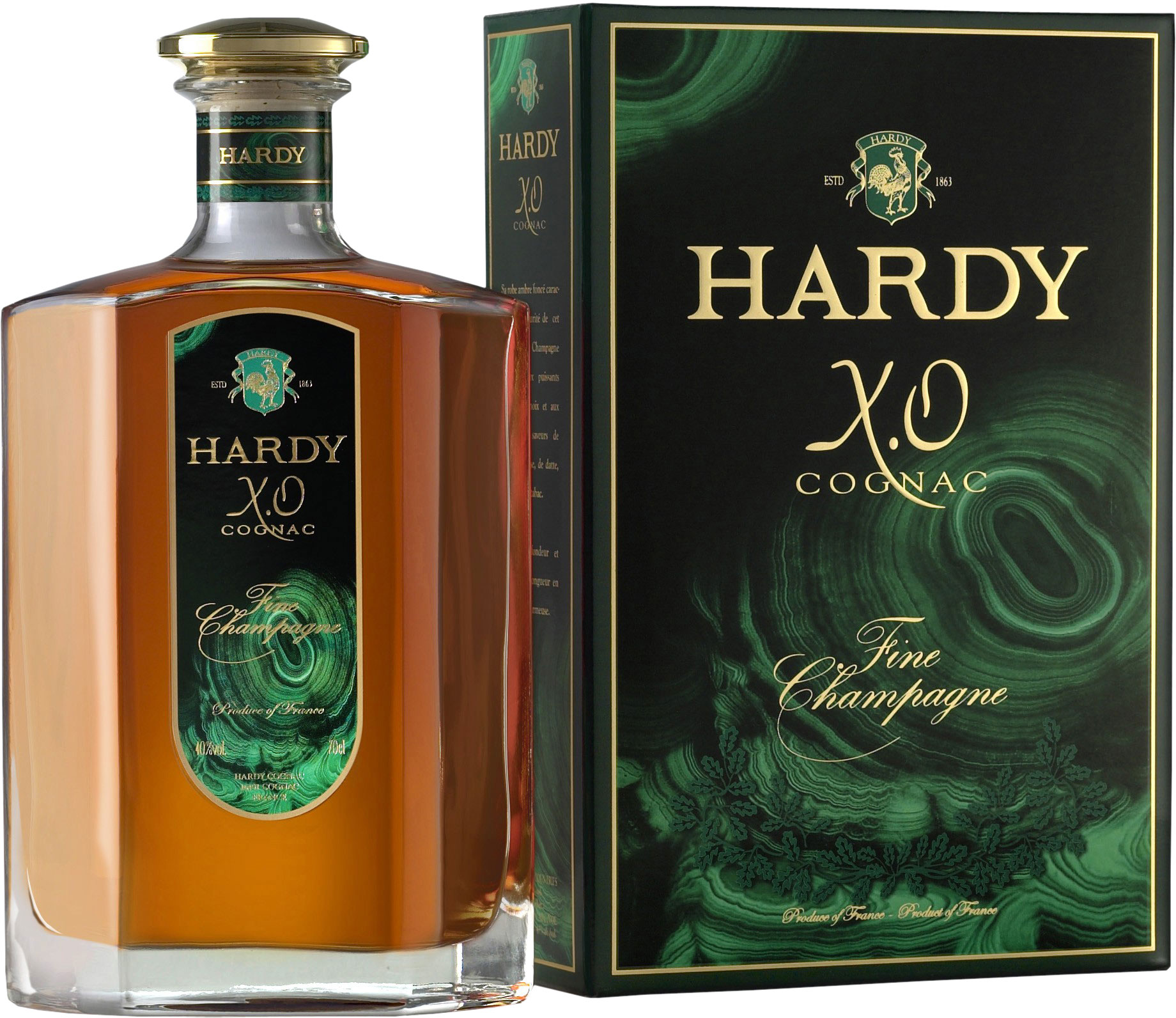 Hardy XO Bronze Decanter Fine Champagne Cognac